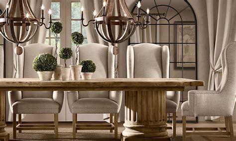 wing chair dining table dining room with chandelier topiary centerpiece