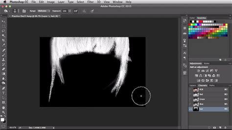 hair selection tutorial photoshop cs3 nsl week 220 adobe photoshop channel hair selection and