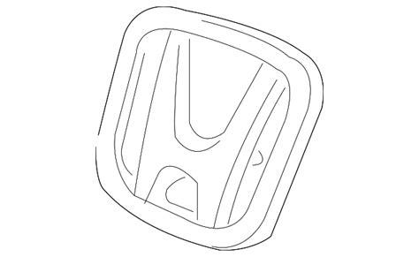 Emblem Honda Genuine Parts emblem h honda 75700 tf0 000 hondaparts