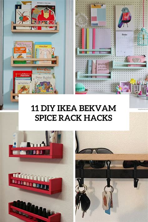 diy ikea wooden spice rack 11 diy ikea bekvam spice rack hacks shelterness