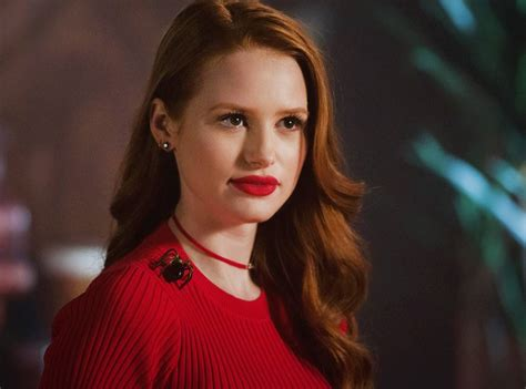 madelaine petsch close up the riverdale secret to cheryl blossom s powerful red lip
