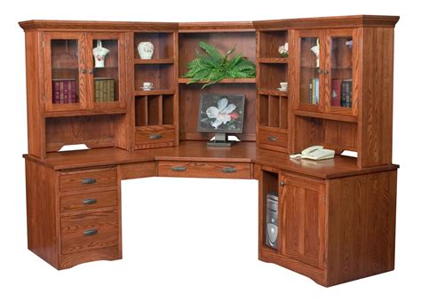 Mission Style Solid Wood Corner Computer Desk Mission Corner Desk