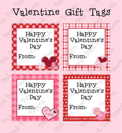 printable gift tags for valentines printable valentine gift tags by pinkposypaperie on etsy