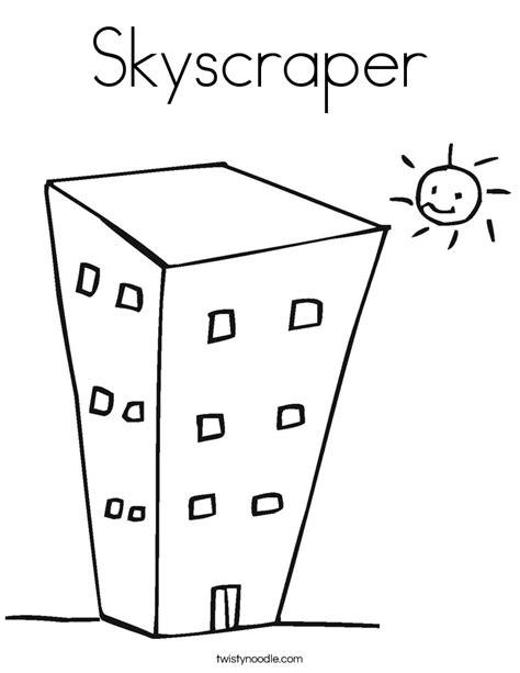 skyscraper coloring page twisty noodle