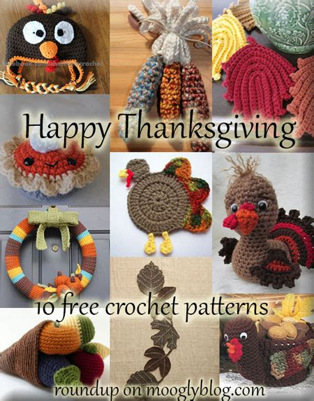 Crochet Thanksgiving Decorations by 10 Free Thanksgiving Crochet Patterns