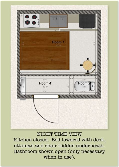 Tiny House Designs And Floor Plans 8x8 Tiny House Design By Mary Parris