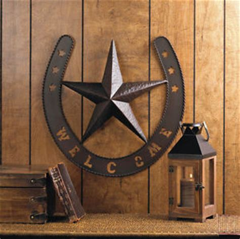 rustic stars wall art my home pinterest metal welcome texas lone star horseshoe wall art country