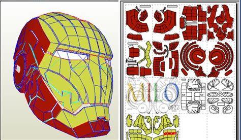 Iron Helmet Papercraft Pdf - 下載 新增完整版 全套全身盔甲 1 1 可穿戴 diy 鋼鐵人頭盔 iron helmet q版