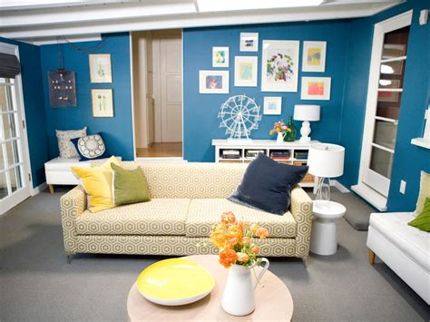 blue walls in living room photo page hgtv