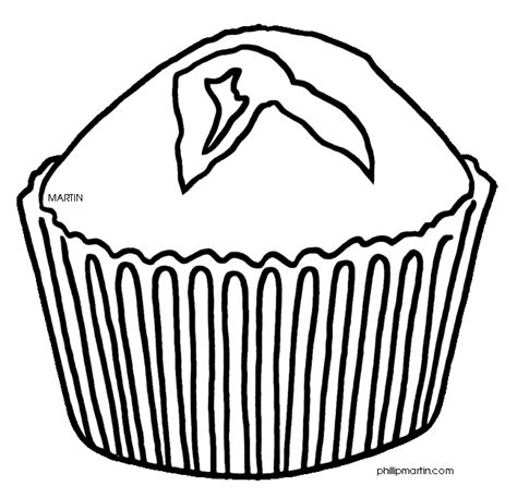 Muffin Coloring Pages Muffin Coloring Page