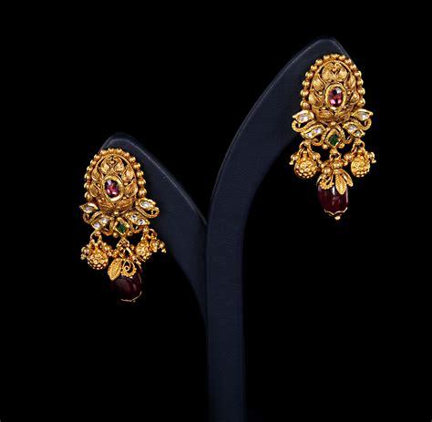 Wedding Ear Ring Design by New Brands Wedding Bridal Gold Earrings