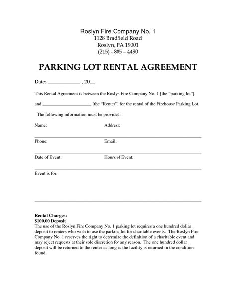 sle letter of agreement template sle letter rent parking space sle resume and cover