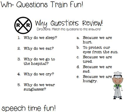 Giveaway Questions - wh questions train fun and giveaway