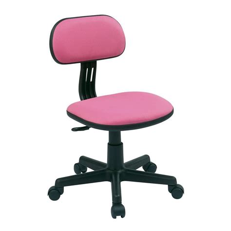 Ospdesigns Pink Fabric Office Chair 499 261 The Home Depot Pink Desk Chair