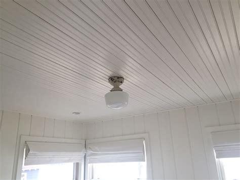 Beadboard Ceiling Install