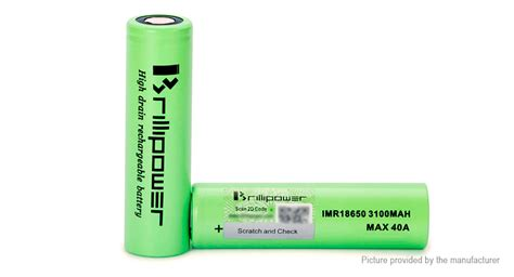 100 Authentic Blackcell Brillipower 3100mah 40a 18650 Battery Black 7 56 brillipower imr18650 3 7v 3100mah rechargeable li ion battery authentic 40a max