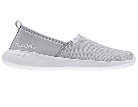 womens grey adidas slip on cloudfoam neo lite racer shoes sneakers size 6 ebay