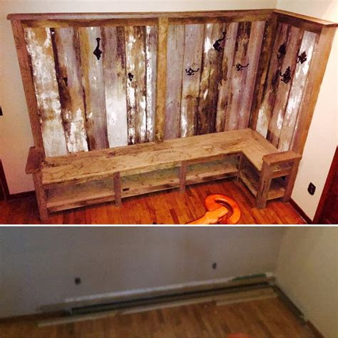 Coat Rack Bench Plans by Indiana Barn Wood Bench Coat Rack By Bgw Lumberjocks Woodworking Community