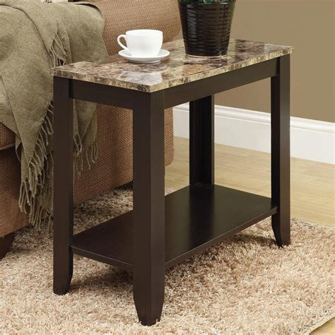 rectangular accent tables shop monarch specialties cappuccino rectangular end table