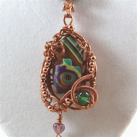 jewelry another copper wire wrapped pendant