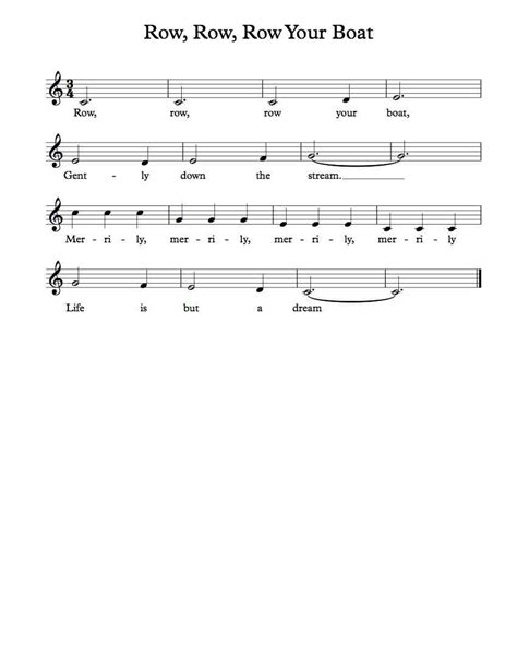 row row your boat farmees free vocal sheet music row row row your boat sheet