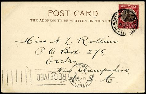 Bermuda Address Finder File Postcard Bermuda 1907 Address Jpg Wikimedia Commons