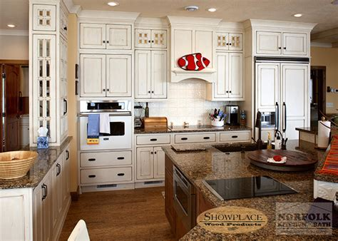 Kitchen cabinets in white paint finish and other paint