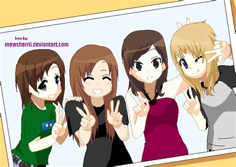 4 Anime Friends by Anime Of 3 Friends Base Www Imgkid The Image