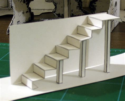 How To Make Stairs Out Of Paper - new stairs design for new models cardboard warriors forum