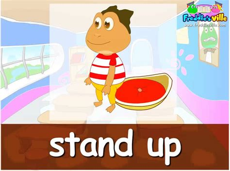 imagenes en ingles stand up classroom commands english for children good tpr lesson