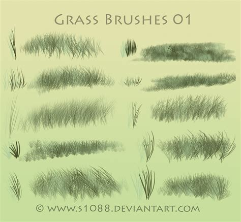 grass pattern brush photoshop free ps grass brushes by s1088 on deviantart