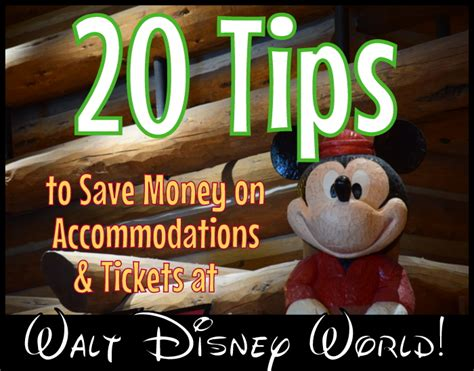 save money on disney world 20 cheapskate tips for accommodations and tickets at