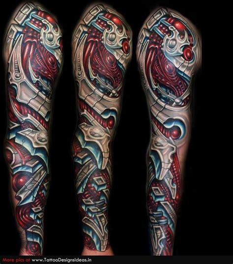 biomechanical sleeve tattoo designs 148 biomechanical for geeks