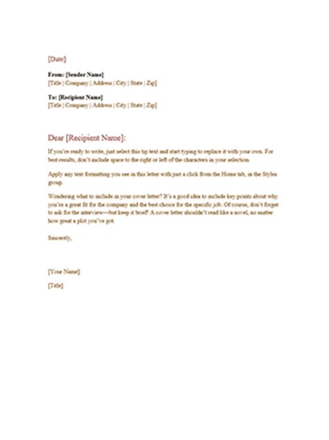 office letter templates formal business letter office templates