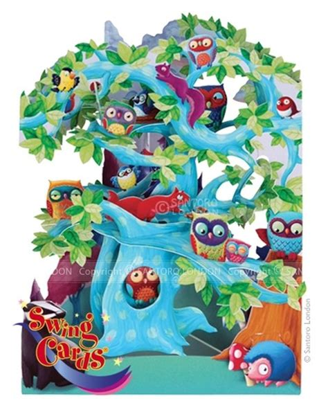 swing cards santoro santoro gorjuss gc swing cards woodland tree of birds 3d
