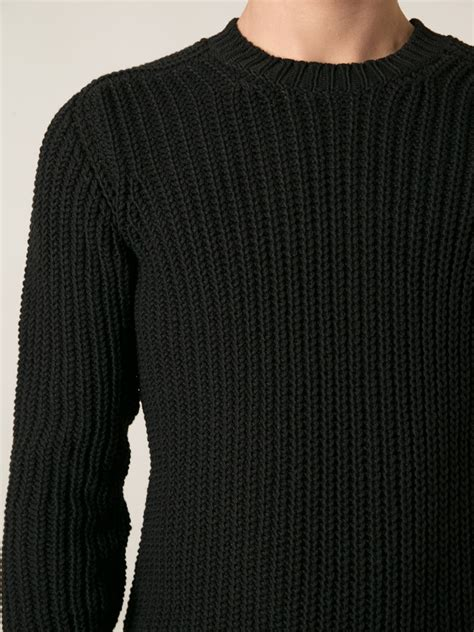 Sweater Jumper Cp Ac Milan Black mens ribbed sweater coat nj