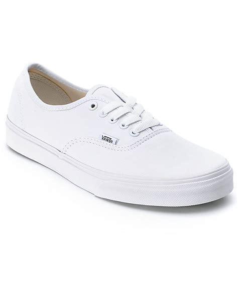Vans Aucthentic Classic All White vans authentic white skate shoes zumiez