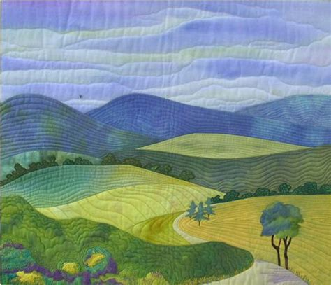 pattern landscape art landscape quilt oh i love how simple and calming this one