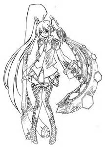 hatsune miku and friends coloring pages coloring pages