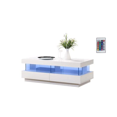 coffee tables with led lights amsterdam gloss coffee table with led lights home