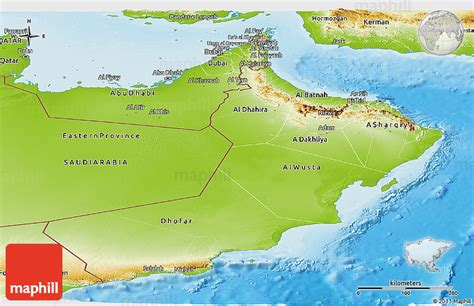 physical map of oman physical panoramic map of oman