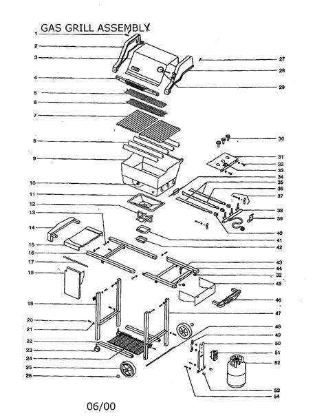 gas grill parts diagram weber gas grill parts model genesissilverblp sears