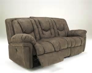 Ashley furniture signature design blagden mushroom reclining sofa