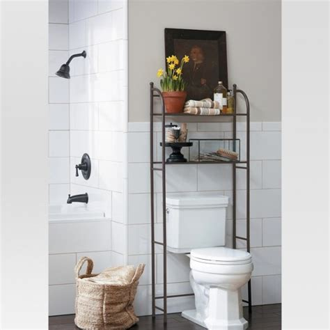 bathroom etagere target target home oil rubbed metal over toilet space saver