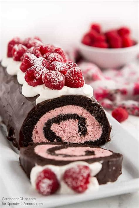 raspberry chocolate swiss roll spend with pennies