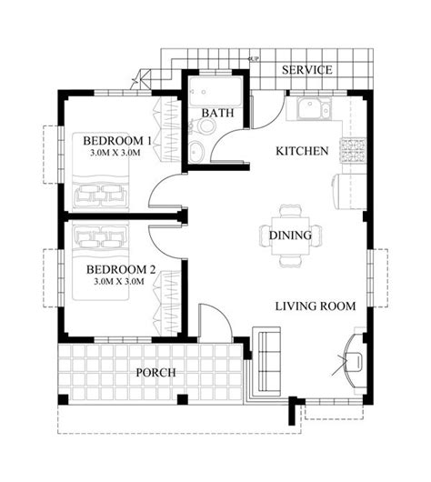 tiny house design plans 10 bungalow single story modern house with floor plans