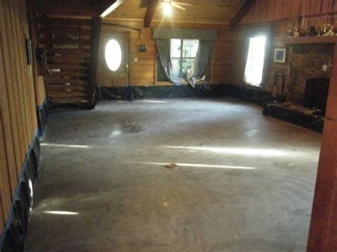 Remi Stained Concrete Floor College Station Austin TX