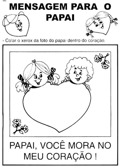 coisa de crian 231 a dia dos pais porta retratos em eva desenhos do dia dos pais para imprimir e colorir coisas