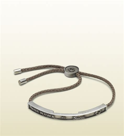 Gucci Bracelet with Embossed Vintage Gucci Trademark Tag in Metallic for Men   Lyst