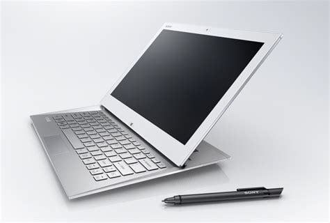 Tablet Laptop Sony Vaio sony unveils vaio duo 13 tablet laptop hybrid touch